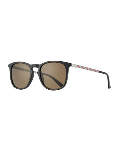 Men's Square Optyl Web Sunglasses, Black