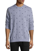 Cornwall 3 Leaf-Print Cotton Sweatshirt