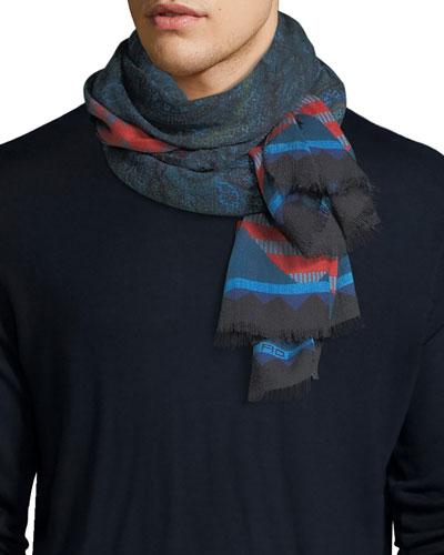 Ornate end scarf