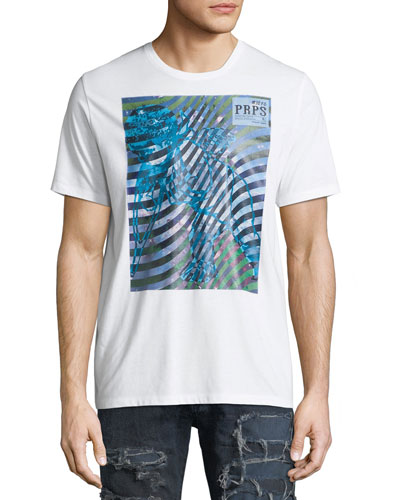 Wave Graphic Print Logo T-Shirt