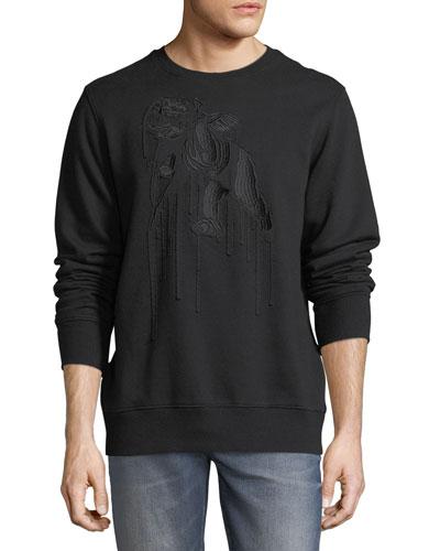 Embroidered Cherub Sweatshirt
