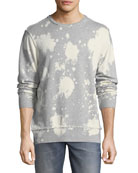 Bleached Distressed-Edge Sweatshirt