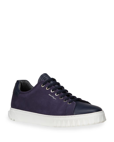Salvatore FerragamoCube Leather Low-Top Sneakers zFlZ6