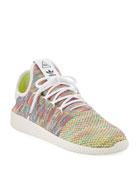 x Pharrell Williams Men's Hu Race Tennis Sneaker, White/Multi