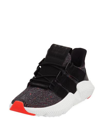 männer prophere lässige sneakers von adidas ziellinie, schwarz