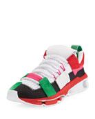 Men's Twinstrike ADV Colorblock Running Sneaker, Black
