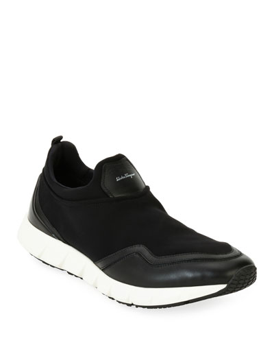Men's Neoprene & Leather Trainer Sneakers