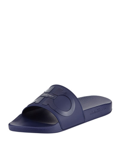 Groove Slide Sandal, Blue