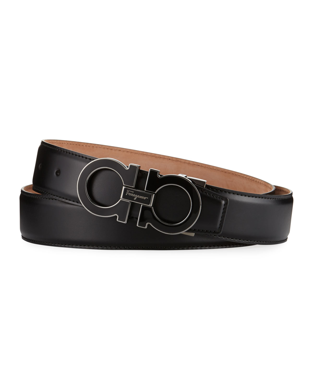 Men's Enamel Double Gancini Belt