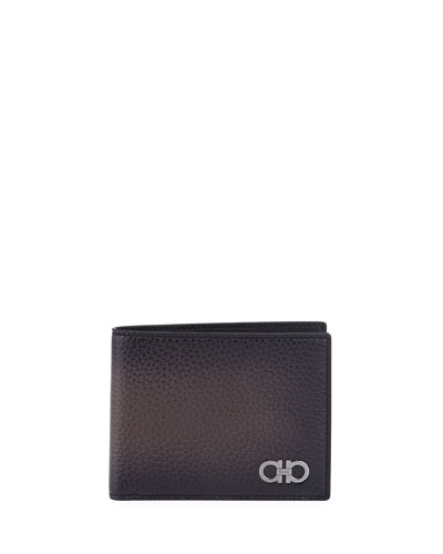 Gancini Leather Bi-Fold Wallet