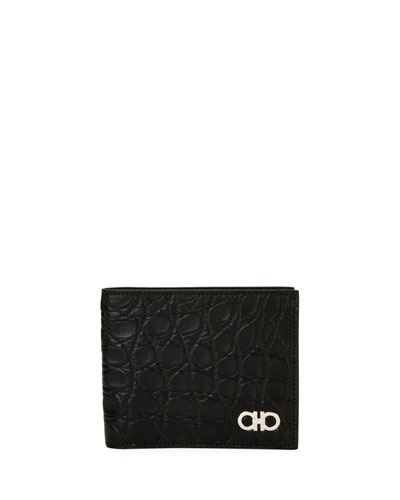 700adf61035e Quick Look. Salvatore Ferragamo · Men's Crocodile 8-Card Bi-Fold Wallet
