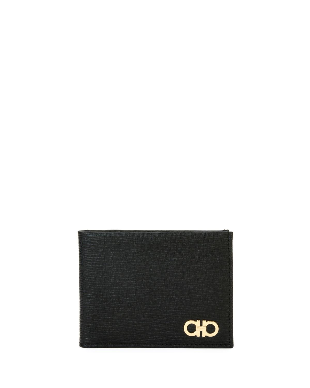 Men's Revival Gancini Bi-Fold Leather Wallet with Window