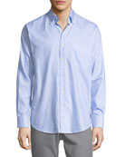 Crown Pinstripe Sport Shirt
