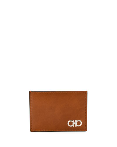 Smooth Calfskin Leather Card Case
