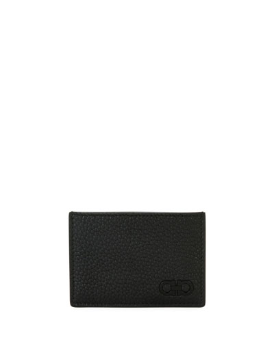Men's Tonal Gancini Leather Card Case