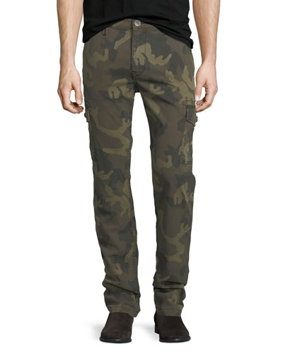 Slim Camouflage Cargo Pants