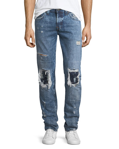 Rocco Distressed Relaxed-Skinny Jeans