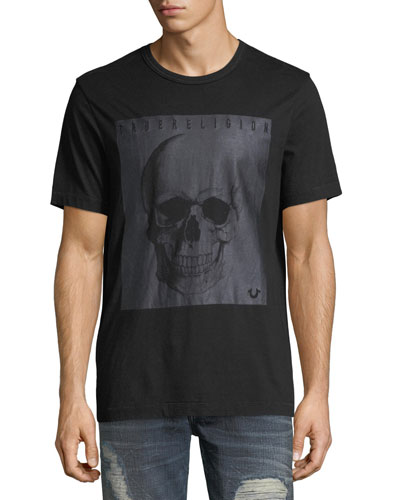 Foil Skull Graphic T-Shirt
