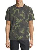 Loose-Fit Camouflage-Print T-Shirt