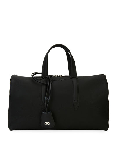 Leather Weekender Duffel Bag