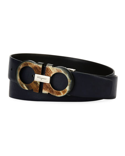 23c2d568b55 ... discount quick look. salvatore ferragamo mens resin gancini leather belt  d61d8 3770b