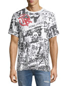 Graffiti-Print Cotton T-Shirt