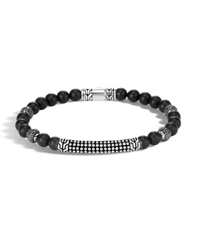 Men's 6mm Classic Chain Jawan Onyx Beaded Bracelet