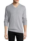 Randolf Cashmere-Cotton Sweater, Gray