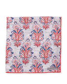 Foulard Paisley Silk Pocket Square, Red