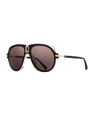 Acetate Aviator Sunglasses