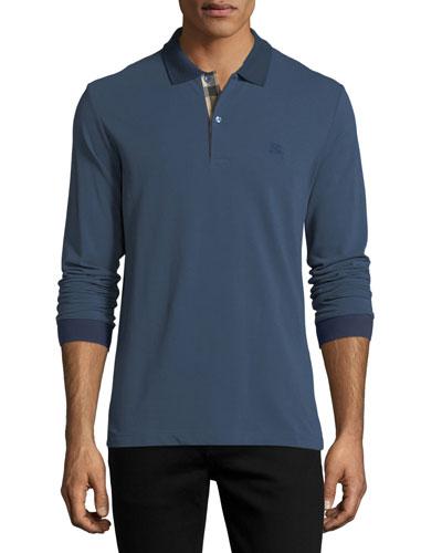 Lawford Long-Sleeve Polo Shirt