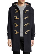 Greenwich Toggle-Front Wool-Blend Coat