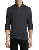 Rawlins Cashmere-Blend Sweater, Charcoal