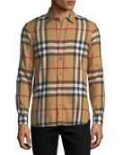 Salwick Check-Print Shirt, Beige