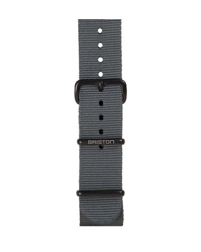 20mm Nylon NATO Watch Strap w/ Matte Buckle, Gray