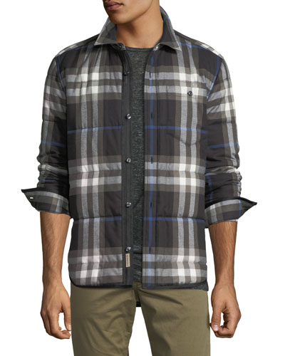 Walsden Quilted Check Cotton Shirt Jacket