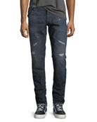 3011 Tapered Jeans, Dark Aged Restored