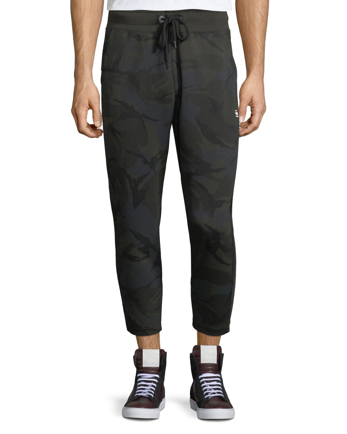 Core Camouflage Cropped Sweatpants