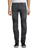Blinder Biker Skinny Jeans, Faded Black