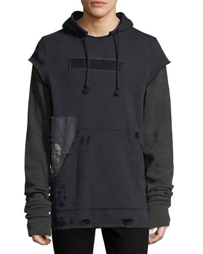 Leon Pullover Hoodie w/ Patches