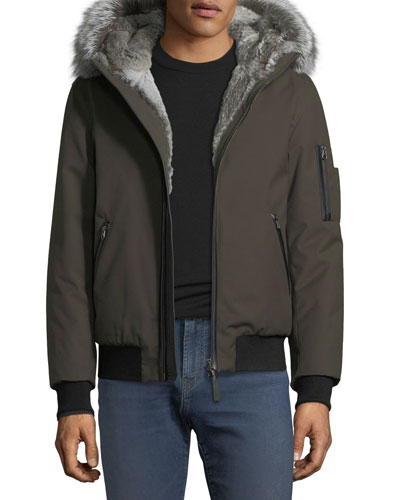 Fur-Lined Parka Bomber Jacket