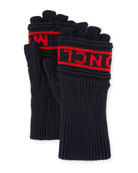 Men's Logo Knit Fingerless Gloves