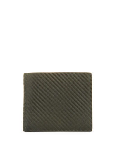Chassis Leather Billfold Wallet, Green