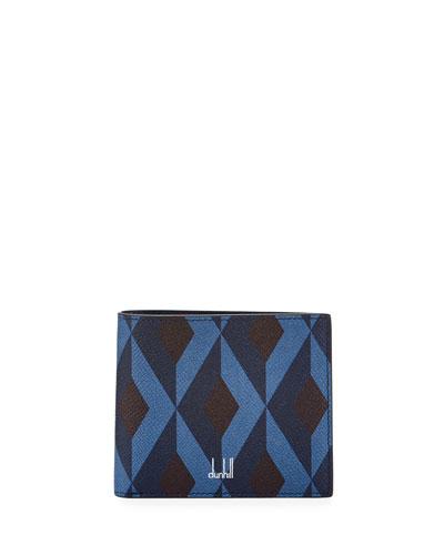 Cadogan Diamond-Print Leather Bi-Fold Wallet