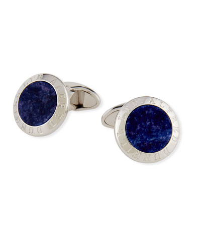 Dunhill AD Disk Cuff Links, Blue
