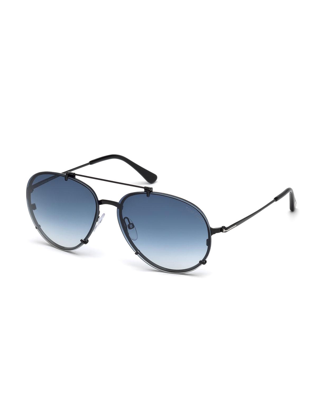 Dickon Gradient Aviator Sunglasses