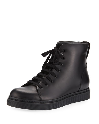 Malon Men's Leather High-Top Sneaker