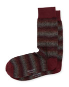 Shaded Stripe Crew Socks