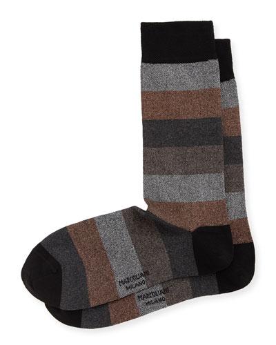 Metal Colorblocked Crew Socks