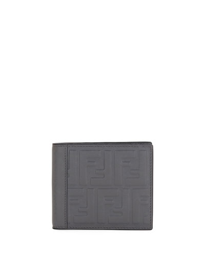 Signature Embossed Leather Wallet